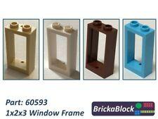 NEW & GENUINE Lego Part 60593 1x2x3 Window Frame (Choose 1,2,4,6,8 or 10)