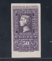 ESPAÑA (1950) MNH NUEVO SIN FIJASELLOS SPAIN - EDIFIL 1075 (50 cts) CENTENARIO