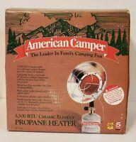 Portable American Camper Ceramic Propane Heater Model 1094 5500 BTU New