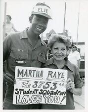 MARTHA RAYE SOLDIER SMILING PORTRAIT OPERATION ENTERTAINMENT 1967 ABC TV PHOTO