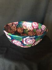 Gaetano Pottery Bowl Floral Hand Painted
