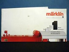 Märklin H0 - Original Operating Manual - Beschreibung for   5574, Excellent
