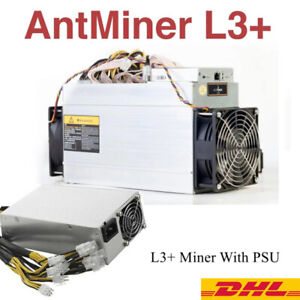 Bitmain Antminer L3+ with PSU Scrypt Asic used bitcoin miner Bitminer/L3+