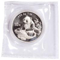 1998 China 1 oz Silver Panda 10Y Coin GEM BU SKU56266
