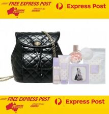 Ariana Grande 5 Pce Gift Pack Ari Perfume & Quilted Backpack - FREE EXPRESS POST