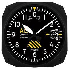 "New Trintec 10"" 30th Anniversary Altimeter Aviation  Instrument Clock 3060-10-SE"