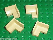 4 x LEGO Tan Panel Corner ref 91501 / Set 7327 3862 41116 10692 10218 41059 ...