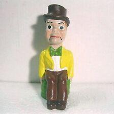 "Vintage Charlie McCarthy chalk ware/plaster figurine 7.25"" B21"