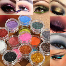 16 Mixed Colors Glitter Powder Eyeshadow Makeup Eye Shadow Cosmetics Salon Set