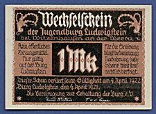 Jugendburg Ludwigstein bei Witzenhausen Werra Notgeld 1 Mark 1921 G10/85