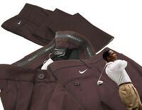 "New NIKE Mens GOLF TROUSERS Pants Regular Fit Brown W32"" iL32 """