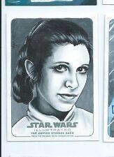 2015 Star Wars Illustrated Empire Strikes back sketch Stephanie Swanger