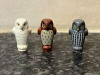 3x LEGO HARRY POTTER ORIGINAL OWLS MINI FIGURES VERY GOOD CONDITION