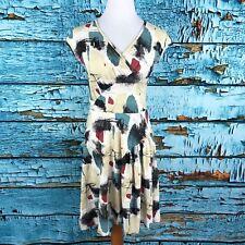 Effie's Heart Mod Cloth Small Stretch Jersey Nina Fit & Flare Dress Brushstroke