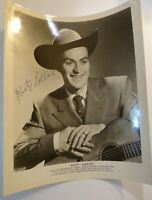 Rare Vintage RUSTY GABBARD Hand Signed AUTOGRAPH Country Western HILLBILLY PHOTO