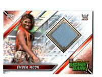 WWE Ember Moon 2019 Topps Raw Event Used Money In The Bank Mat Relic Card