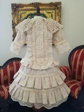 "Vintage French victorian  dress 17"" for antique bisque German doll 24-26"""