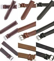 Hadley Roma MS885 18-24mm Regular-Long Tan Leather Contrast Stitched Watch Band