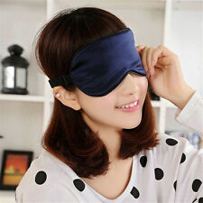 Pure Silk Sleep Rest Eye Mask Padded Shade Cover Travel Relax Aid Blindfolds HK
