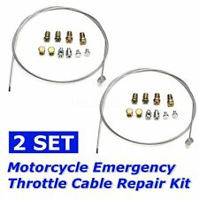 2X Motorcycle Throttle Cable Repair Kit for YAMAHA SUZUKI KAWASAKI HONDA