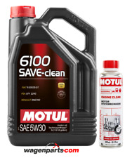 Aceite Motor Motul 6100 SAVE-CLEAN 5W30 C2 Fuel Eco DPF, Pack 5 L Engine clean