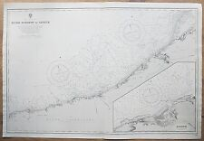 1905 FRANCE RIVER DURDENT TO CAYEUX DIEPPE GENUINE VINTAGE ADMIRALTY CHART MAP