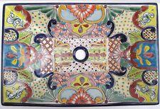 "21"" TALAVERA SINK rectangular vessel mexican bathroom sink hand painted folk art"