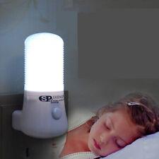 LED Night Light Lamp Wall Mounted Plug-in 8 LED Home Bedroom Lighting Bulb Lamp