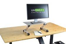 SILVER Adjustable Height Desktop Computer Monitor Riser stand holder ergonomic