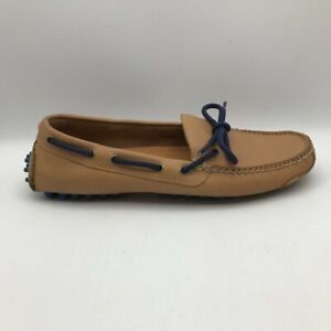 Cole Haan Mens Gunnison II Driver Loafer Shoes Brown Blue Leather Slip-On 7D