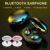 TWS Bluetooth 5.0 Wireless Earphones Headphones In-Ear Earbuds U Stereo K C4M8