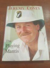 SIGNED JEREMY CONEY The Playing Mantis New Zealand Cricket Hardcover