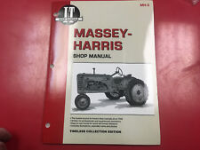 Massey Harris I&T Tractor Service Shop Repair Manual 20 22 30 44 55 101 Pony Mh2