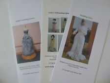 Knitting Patterns for 1:12 scale wedding or evening gowns for  5.5 inch doll