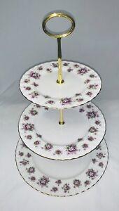 Royal Albert - Sweet Violets, High tea 3 tier cake stand