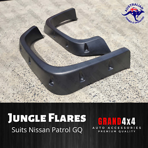 JUNGLE FRONT FENDER FLARES FOR NISSAN PATROL GQ 1990 - 1997 GUARD COVER ARCH