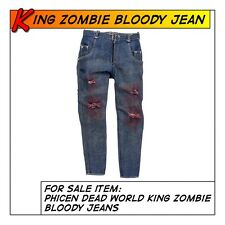Phicen King Zombie Weathered & Bloddy Jeans fit 1/6 12 in scale Action Figure