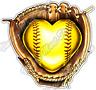 """Fastpitch Heart Softball Fast Pitch Pitcher Car Bumper Vinyl Sticker Decal 4.6"""""""