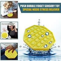 Silicone Push Bubble Sensory Fidget Toy Autism Special Needs Silent Classroom
