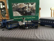 GreatLand Holiday Express Battery Operated Train Set BLUE