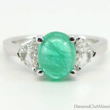 Estate  2.51ct Diamond Emerald 18k Gold Ring 4.3 Grams