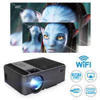 Beamer Video Projektor Full HD 1080P LED LCD WIFI Heimkino Beamer 3000:1 Spiel