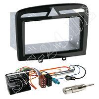 Peugeot 308 CC RCZ Doppel-DIN Einbaurahmen Autoradio Blende+ISO Kabeladapter SET