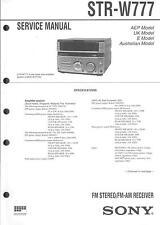 Sony Original Service Manual für STR-W 777