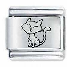 LITTLE CAT et - 9mm Daisy Charms by JSC Fits Classic Size Italian Charm Bracelet