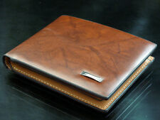 New Fashion Brown Mens Bifold Leather Purse Designer Inspired Wallet Hot