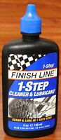FINISH LINE METRO 1-STEP BICYCLE BIKE CHAIN CLEANER & LUBE 4OZ. DRIP BOTTLE