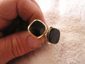 Vintage Anson Cufflinks with Black Stones