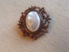 Vintage MOP? Copper Brooch Flower Design Unique