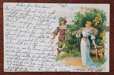 1901 German Postcard to Franzis Frankner, Weissenfels, Am Mühlberg